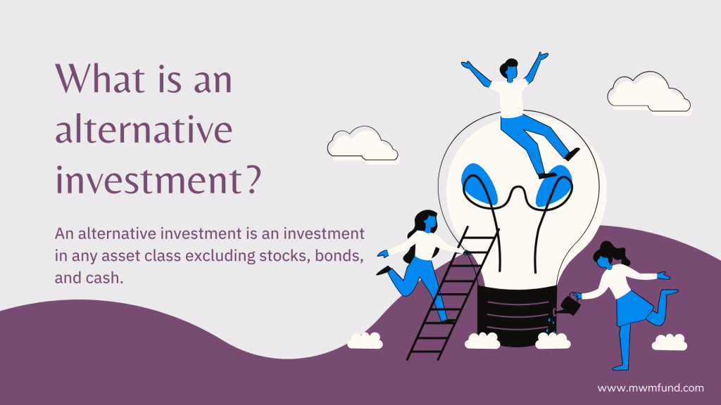 Definition of alternative investment.